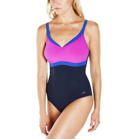 speedo Sculpture Aquajewel 1 Piece Swimsuit Women Navy/Diva/Ultramarine